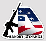Armory Dynamics Die Cut Vinyl Sticker 3.09x3.46