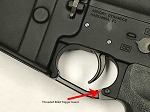 Armory Dynamics Threaded Billet Trigger Guard, Anodized Black *No Roll Pins*